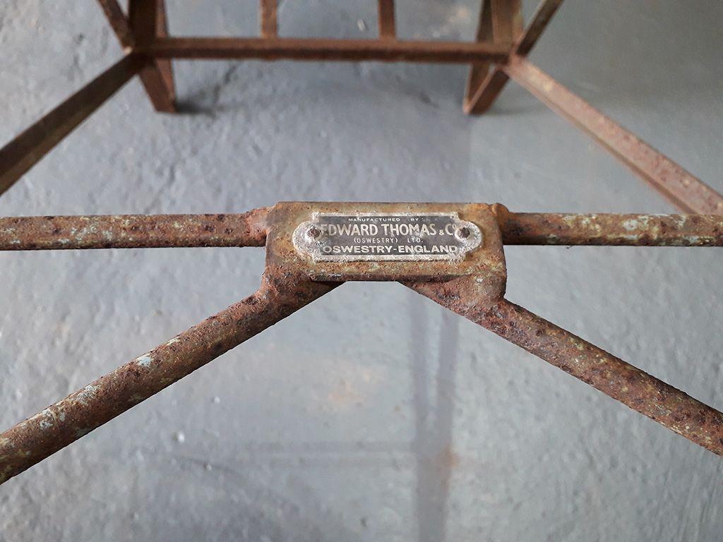 Vintage Galvanised Water Carrier Wheelbarrow
