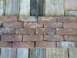 Weathered Handmade Dark Brick Slips