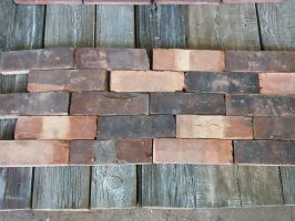 Heavy Weathered Wirecut Brick Slips