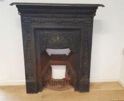 Reclaimed Cast Iron Victorian Fireplace Surround