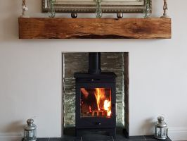 Restored Oak Mantel Beams