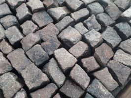 Reclaimed Pink Granite Windswept Cobbles / Setts - 100 x 100mm