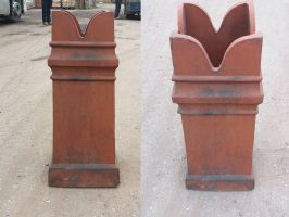Reclaimed Red Chimney Pot