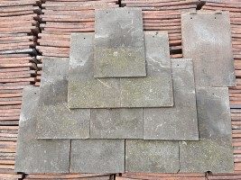 Reclaimed Machine Made Acme Dark Roof Tiles - Sand Faced
