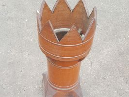 Reclaimed Victorian Brown Glazed Crown Chimney Pot