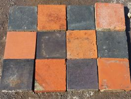 Reclaimed Black Quarry Tiles 6x6