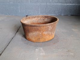 Reclaimed Cast Iron Feeding Pan / Planter