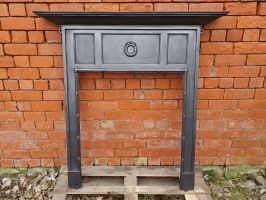 Reclaimed Cast Iron Fireplace Surround - Restored