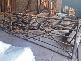 Reclaimed Galvanised Metal Farm Gate
