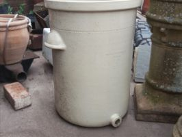 Reclaimed Glazed Cream Water Pot