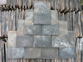 Reclaimed Handmade Dark Roof Tiles