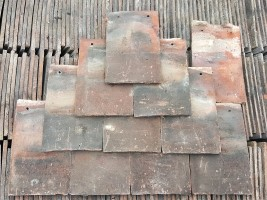 Reclaimed Handmade Red Roof Tiles
