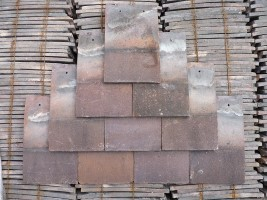 Reclaimed Machine Made Hawkins Red Roof Tiles - Sand Faced