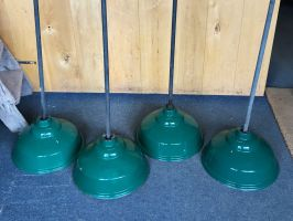 Reclaimed Industrial Ceiling Lights - 4 Available