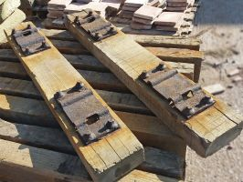 Reclaimed Mini Railway Sleepers