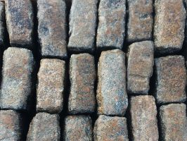 Reclaimed Pink Granite Setts Random