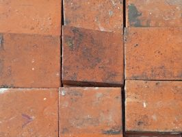 Reclaimed Red Quarry Tiles 6x6x1