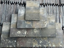 Reclaimed Machine Made Blue Brindle Roof Tiles - Smooth