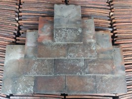 Reclaimed Machine Made Rosemary Red Roof Tiles - Smooth