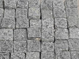 Reclaimed Silver Grey Granite Cobbles / Setts - Cubes