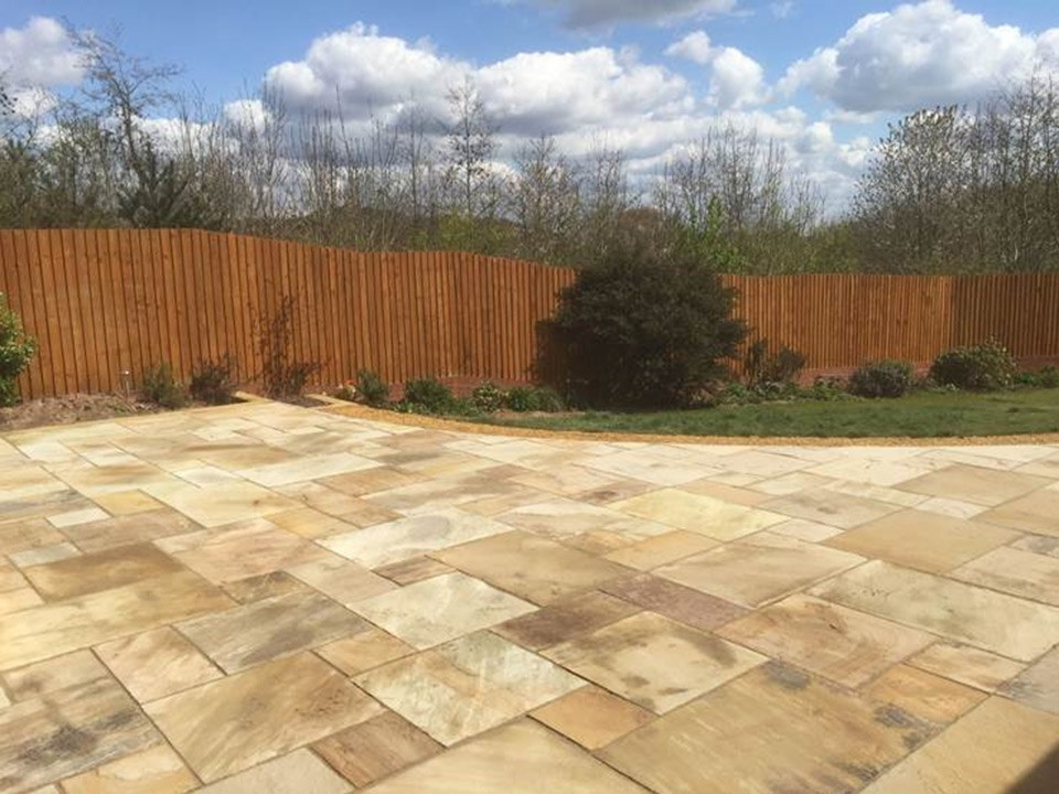 Fossil Mint Sandstone Patio Customer Project