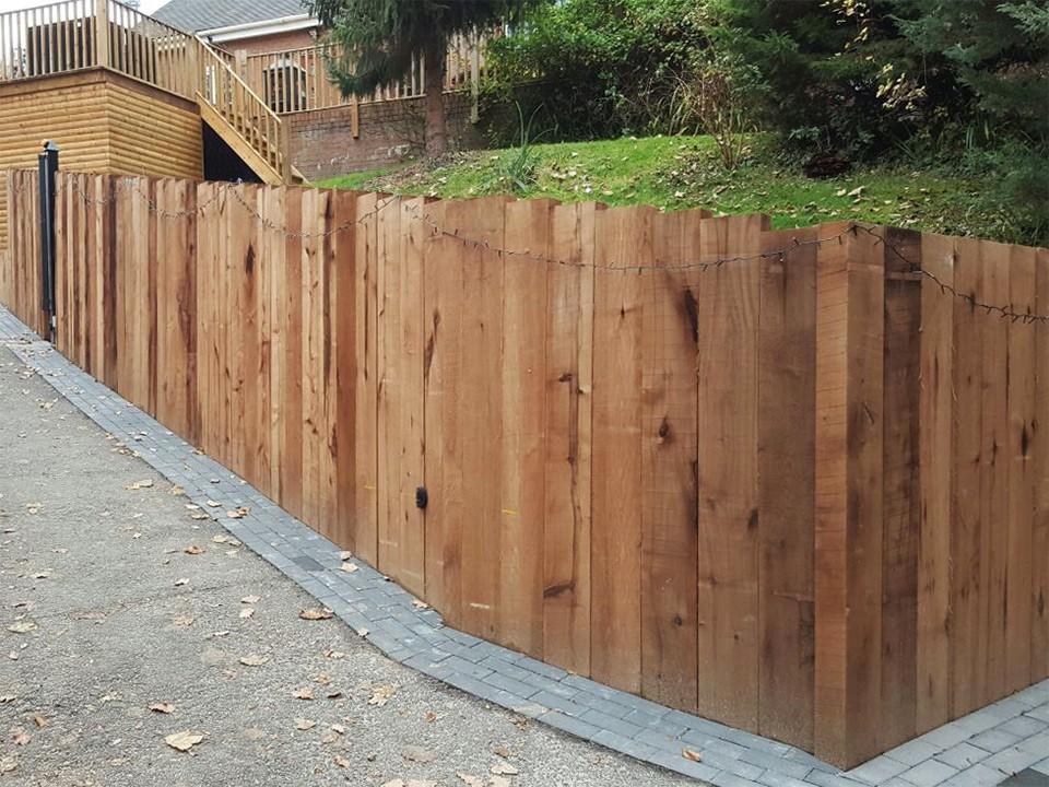 Chestnut Sleeper Retaining Wall Customer Project