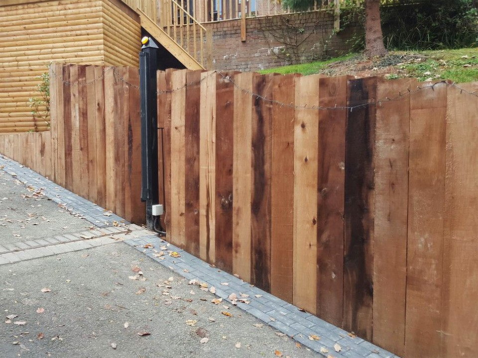 Chestnut Sleeper Retaining Wall Customer Project