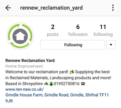 Rennew are on Instagram!