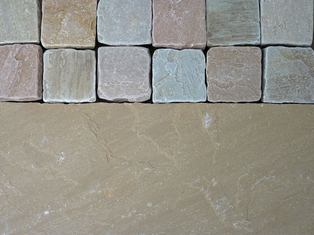 Raj Blend Natural Indian Sandstone Paving & Cobbles