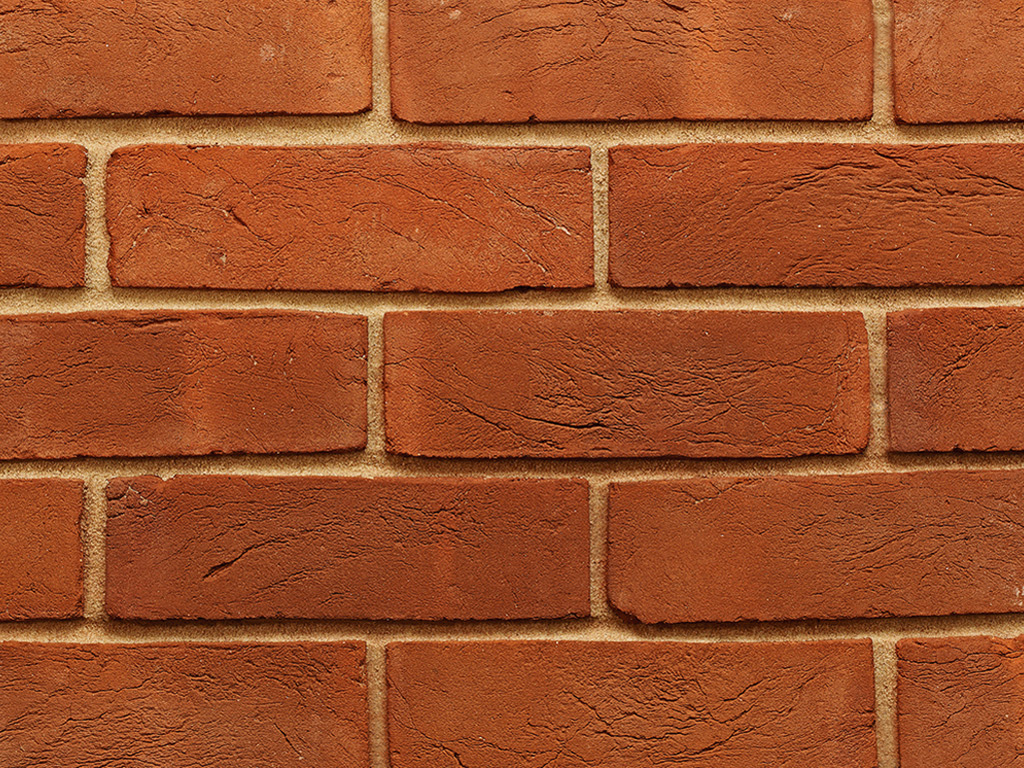 Soft Red Handmade Brick Slips